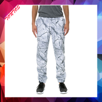 french terry cut and sew custom joggers balloon fit pants for men