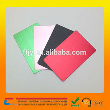 wholesales anodized aluminum business card blank aluminum card color card for your chioce