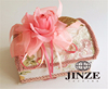 Pretty And Colorful Delicate folding box with ribbon