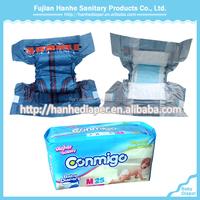 Fujian PE Backsheet Diaper Libero Baby Diaper with Leak Guard/Baby Diaper Brands