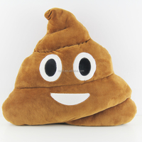 2015 wholesale soft emoticon poop cushion pillow