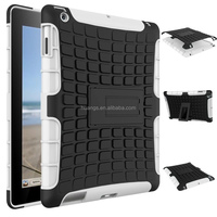 2015 New design 2 in 1 Dual Slim Armor TPU&PC kickstand shockproof phone case for tab ipad 2 3 4 factory price