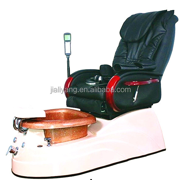 Black Leather Luxury Spa Pedicure Chairs used Spa