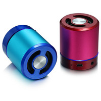 T 2023A Round mini portable bluetooth speaker with usb port and fm radio function