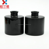 best selling products 200ml frosted or smooth black glass lightproof perfume diffuser glass bottle