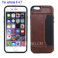 For iPhone 6 4.7 inch Luxury Genuine Real Leather Wallet Case Cover Shell