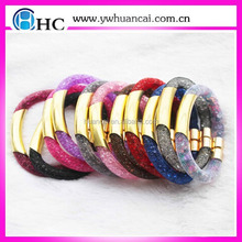 Fashion Crystal Jewelry Cuff Stainless Steel Mesh Chain Magnetic bracelet