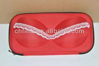 Fashion 600D polyester covered portable fashion EVA bra case