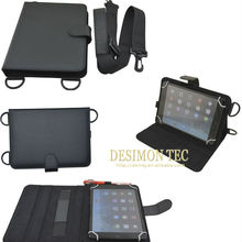7.85inch universal tablet case pu leather neck /shoulder strap LOGO custom shenzhen