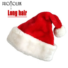 wholesale Adult long hair high quality cheap Christmas hats winter Christmas decorations Christmas santa claus hats