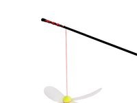 Aimigou wholesale china cat teaser stick plush dangler toy