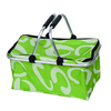 Foldable fruit insulated baskets with cover and handle