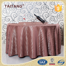 Oilproof Hand Embroidery Designs Stripe Oval Table Cloth