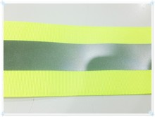 High class decorative Reflective fabric tape, clothing material for sewing, backing with High bond tape sew on bag, gloves, vest