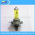 phare de voiture quartz halogène ampoule jaune h4
