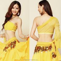 8 Colors Choose Midriff Top Belly Dance Yoga Ballet Shoulder Cotton Costume