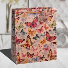 Fancy Design Kraft Paper Bag BUTTERFLIES