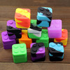 New arrival hot selling 23g=9ml jars dab wax vaporizer oil square silicone container