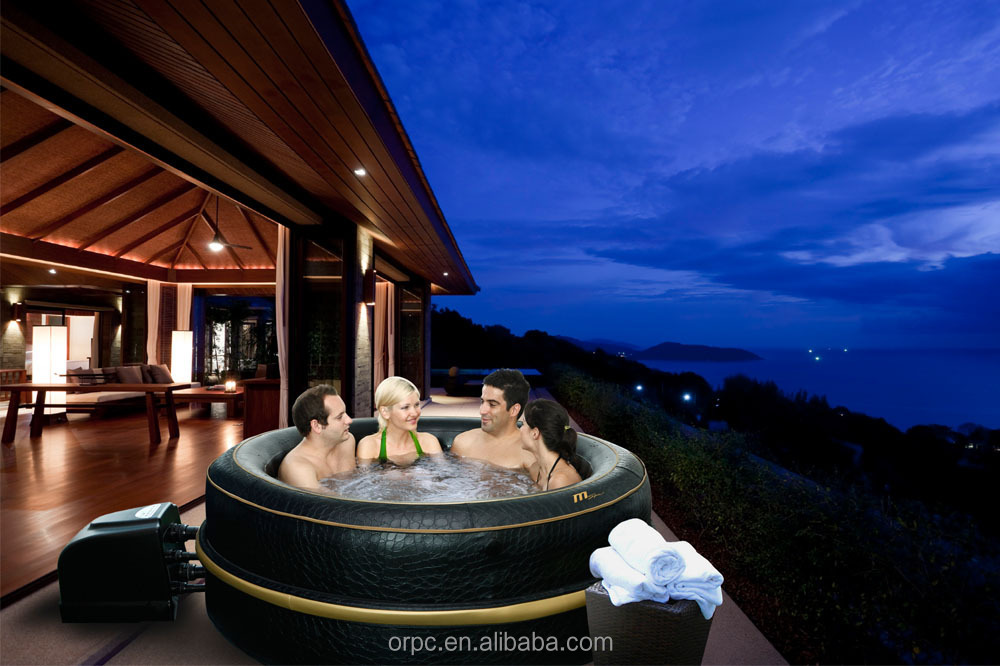 MSpa Inflatable Portable Spa, 6 person Hot Tub, Luxury Exotic HJ-511S