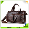 coffee color high quality genuine leather messenger bag for men with 2 outer pockets
