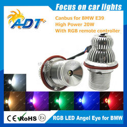 hot sell 2015 new products Plug and Play RGB Angel Eye for BMW, Multi-color Angel Eyes with Remote Controller Auto Parts