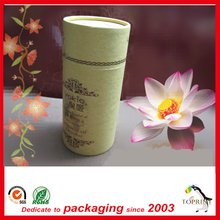 Deodorant custom logo printed kraft paper tube packing or Electronic products or bottle glass cylinder box