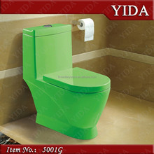 Red/green/blue/black/white toilet, female toilet bowl, ceramic decorated color toilet
