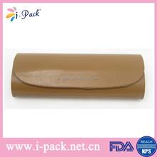 Clear magnetic pu leather handmade folding decorative glasses box/eyeglass box/eyewear box case