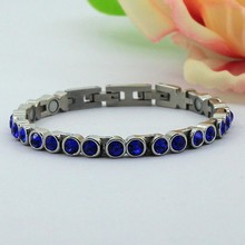 colorful anti-static magnetic stainless steel bracelet+lasrer your own logo for free