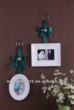 FU-13520 wooden embossed picture frame with ribbon
