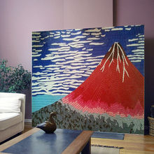arte de mosaico de vidrio volcán japón patrón de onda azulejos de mosaico decorar el interior de vidrio mural