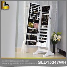 Stylish and Modern wall mounted mirror jewelry armoire