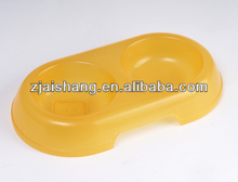 European Fashionable First Rate High Quality food grade yellow plastic dog bowl Bpa free