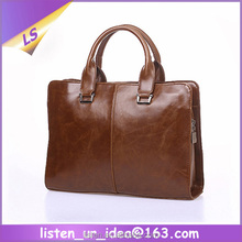 Classical Designed Brown Color Business Men's Leather Briefcase