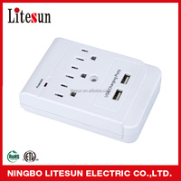 LA 5S 3 outlets surge protected current tap with USB ports