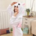 Venta al por mayor Kartoon franela Unisex adultos Pink Unicorn Animal Onesie ropa de dormir de Cosplay de Halloween pijamas del traje del traje
