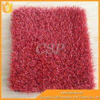softness Improved durability red colored landscaping artificial grass for garden