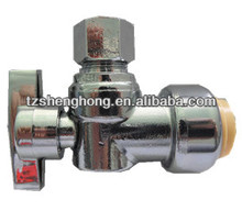 lead free push fitting 1/4 turn ball valves Nickle Plated