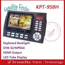 HD Satellite Finder KPT-958H 4.3Inch Protable MPEG-4 DVB-S/S2 Satellite Finder Meter Digital DVB-S/S2 Sat Finder KPT 958H