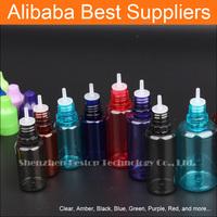 Hot Sales 15ml PET Green Dropper Bottle 15ml Plastique Eliquid Bouteille with Cap