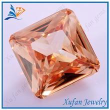2015 blue cubic zirconia / champagne square princess cut diamonds