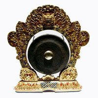 Kempur Gong with Carved Stand