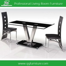 Low Price Black Tempered Glass Dining Table