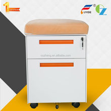 Hot sale high quality mute sliding rails 2drawer small mobile filing cabinet under the desk