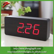 Popular Red Promo Led Wooden Digital Clock