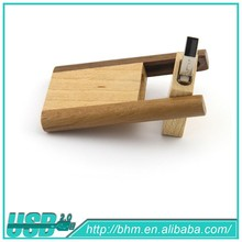 2015 new cheap gifts wooden usb flash disk/rectangle u disk