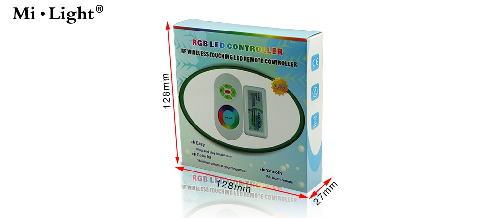 wifi compatible rgb controller 5 key half touch rf remote controller DC12/24V WIFI remote led controller