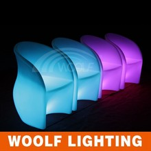 led lighting high back arms leisure coffee chairs