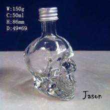 50ml skull glass bottle STOCK