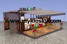 Customized cafe container kiosk | container cafe kiosk | coffee container kiosk for sale